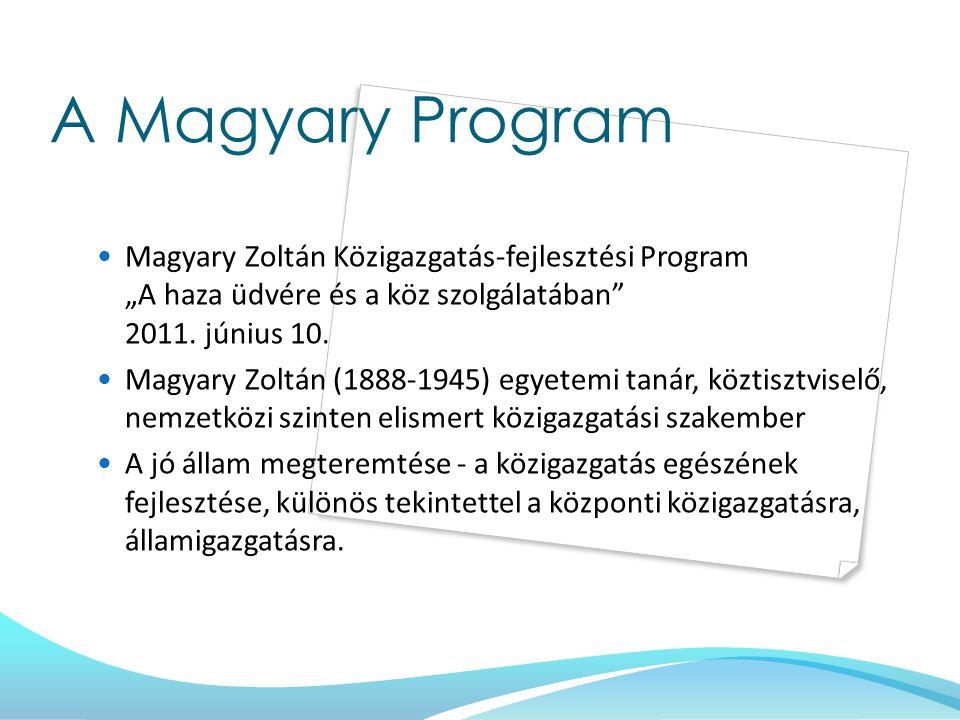 """A Magyary Program Magyary Zoltán Közigazgatás-fejlesztési Program """"A haza üdvére és a köz szolgálatában 2011. június 10."""