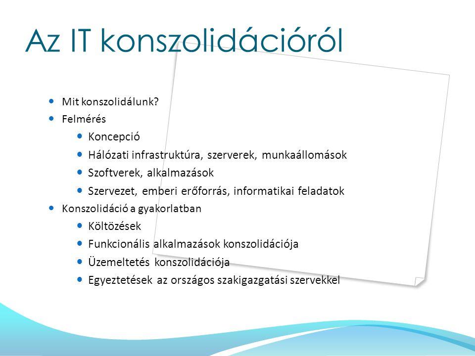 Az IT konszolidációról