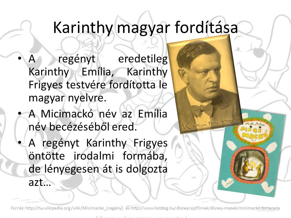 Karinthy magyar fordítása