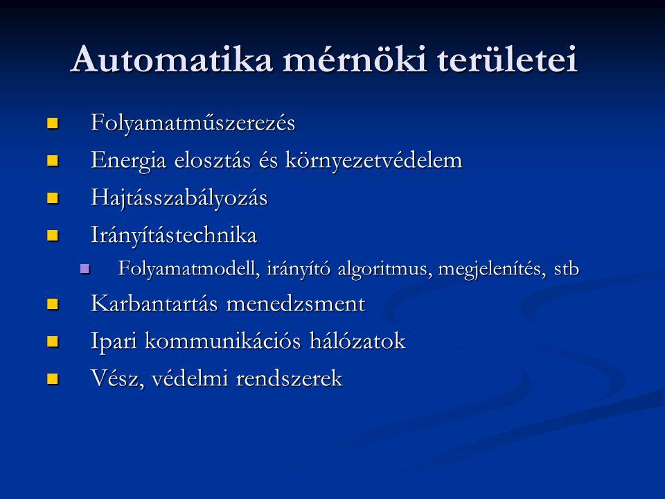 Automatika mérnöki területei