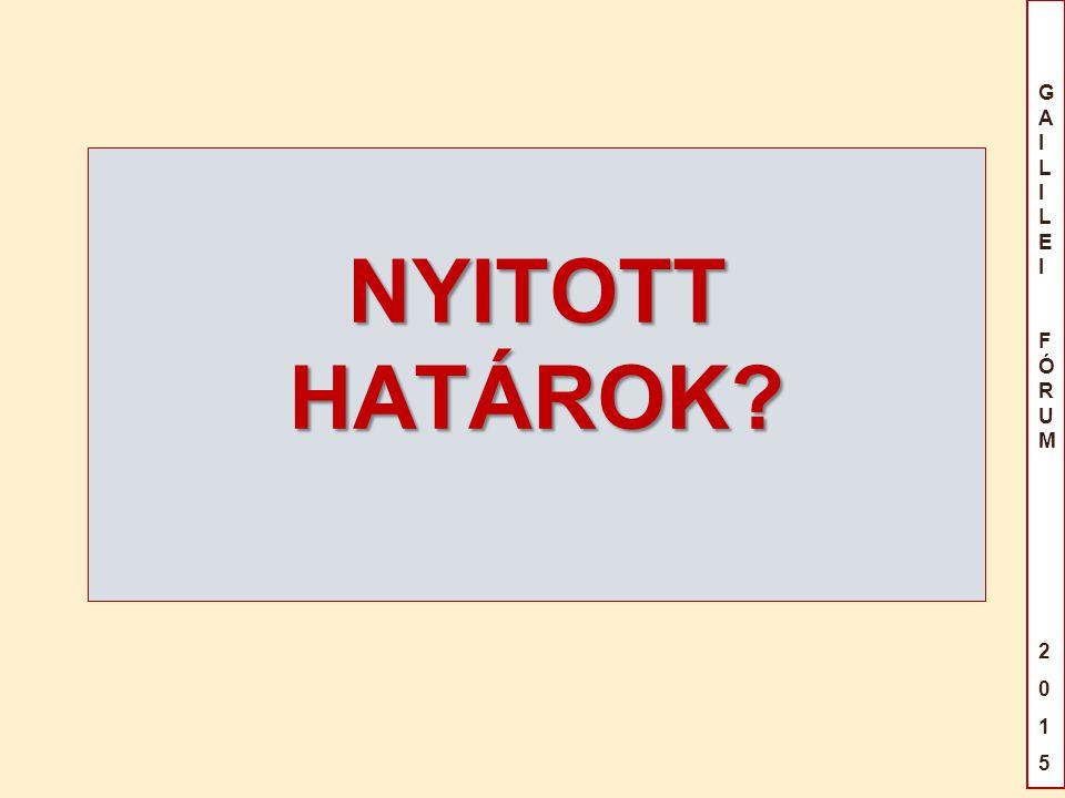 NYITOTT HATÁROK