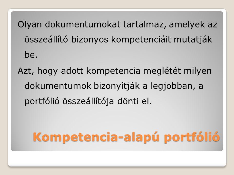 Kompetencia-alapú portfólió