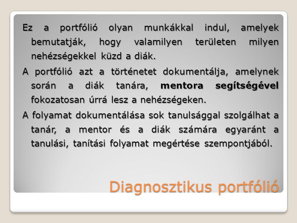 Diagnosztikus portfólió