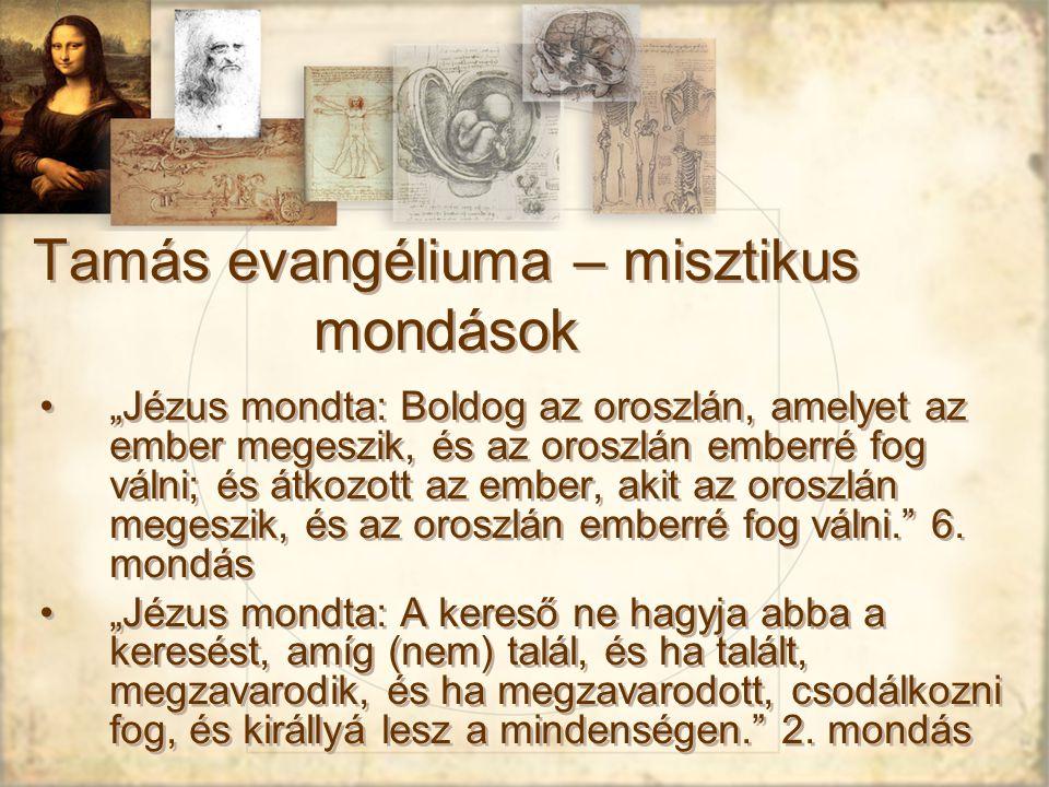 Tamás evangéliuma – misztikus mondások
