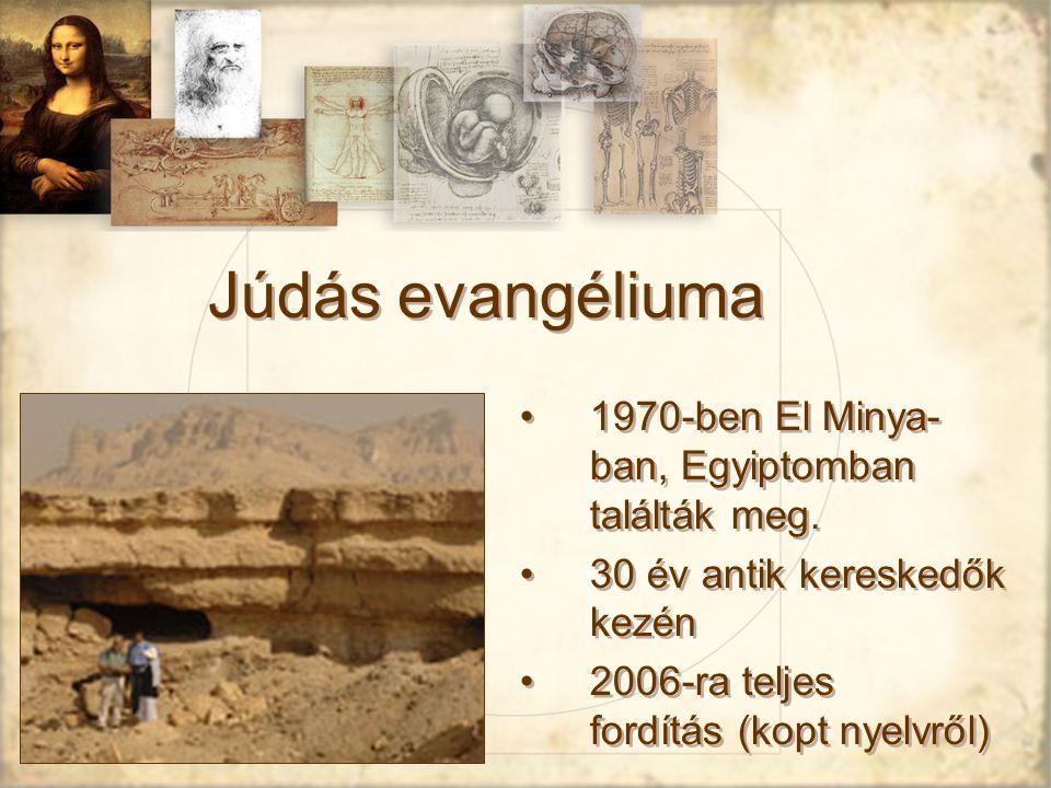 Júdás evangéliuma 1970-ben El Minya-ban, Egyiptomban találták meg.