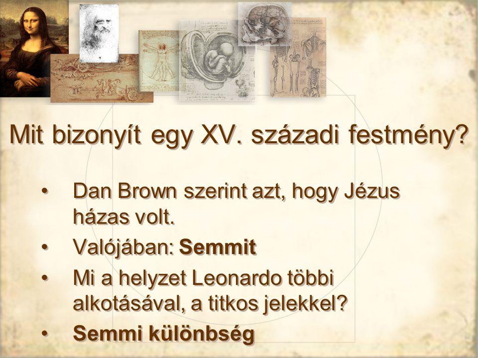 Mit bizonyít egy XV. századi festmény
