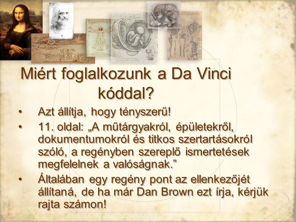 Miért foglalkozunk a Da Vinci kóddal