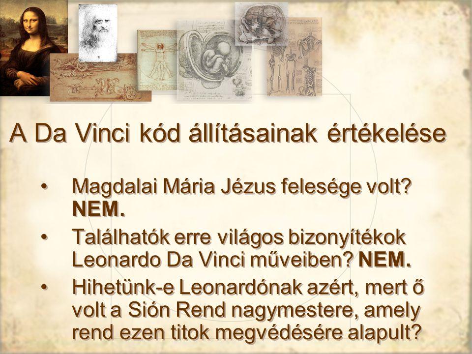 A Da Vinci kód állításainak értékelése