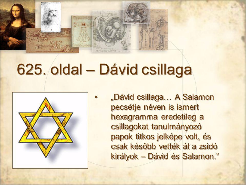 625. oldal – Dávid csillaga