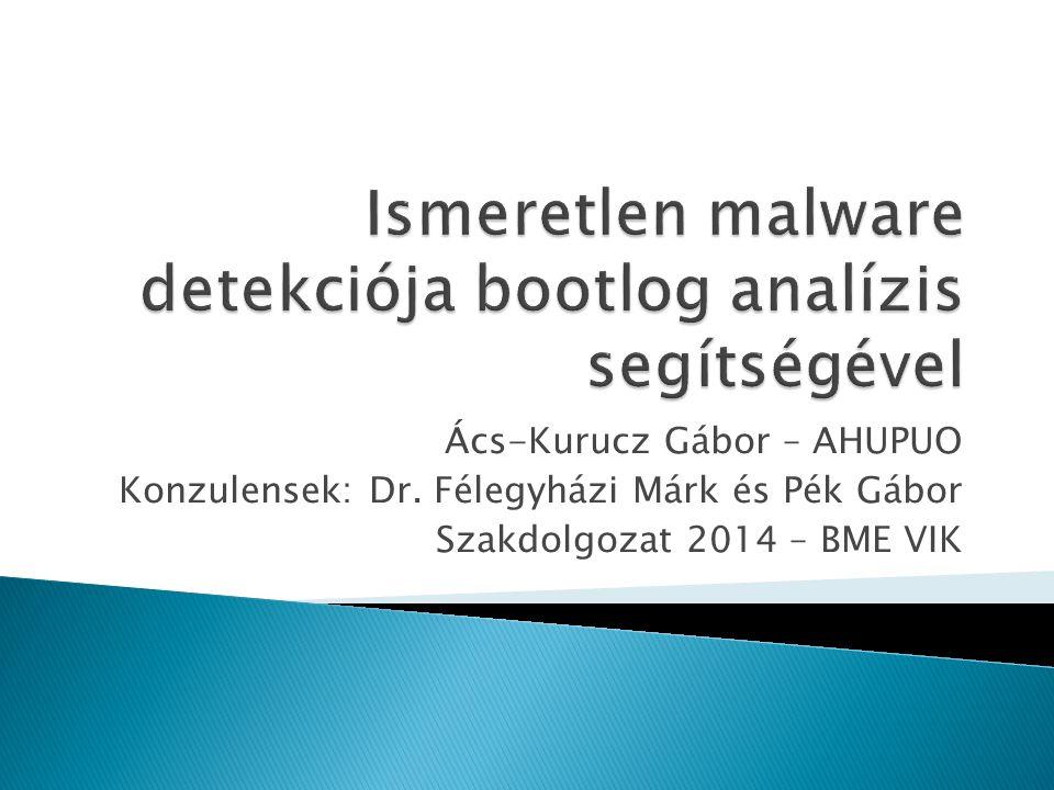 Ismeretlen malware detekciója bootlog analízis segítségével