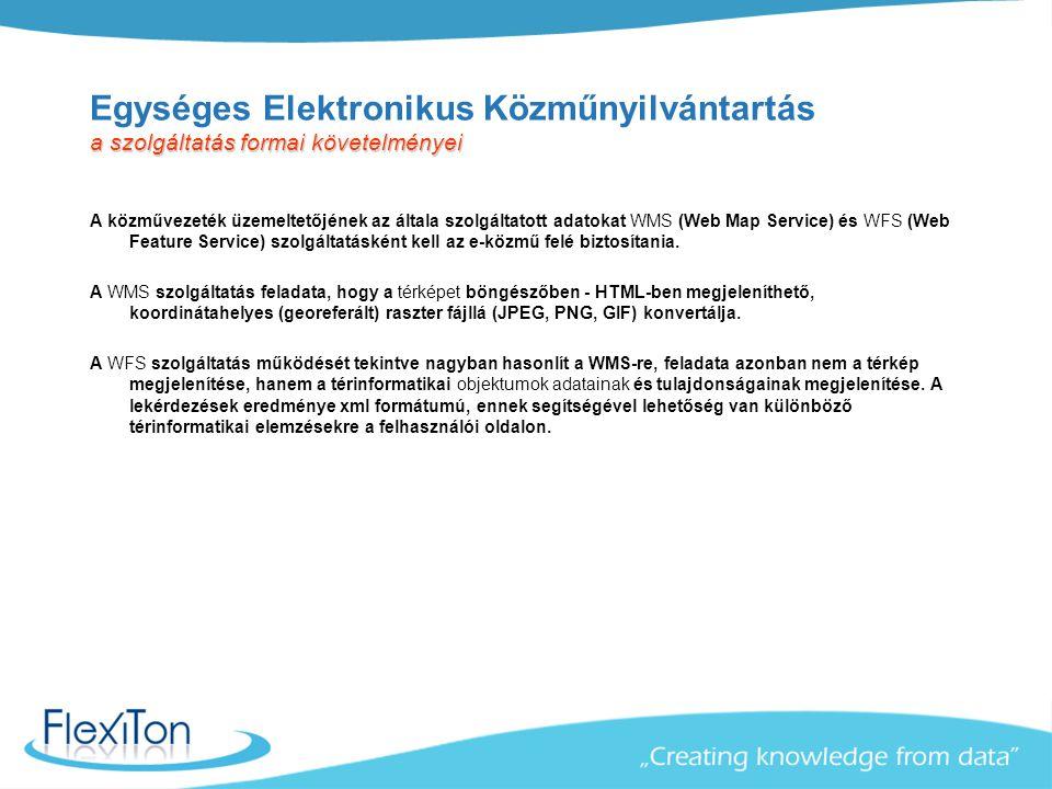 Egységes Elektronikus Közműnyilvántartás a szolgáltatás formai követelményei