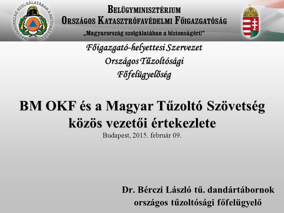 Dr. Bérczi László tű. dandártábornok országos tűzoltósági főfelügyelő