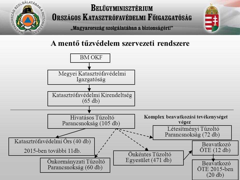 A mentő tűzvédelem szervezeti rendszere