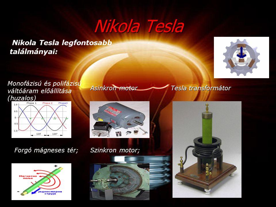 Nikola Tesla Nikola Tesla legfontosabb találmányai: