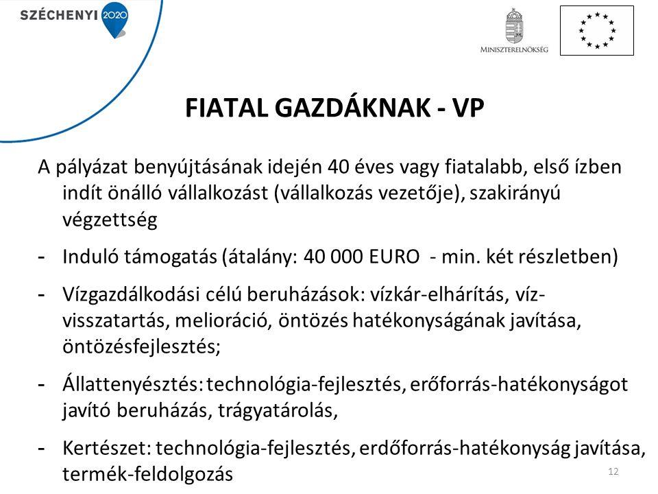 FIATAL GAZDÁKNAK - VP