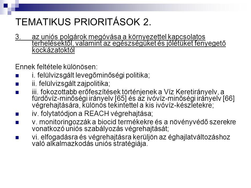 TEMATIKUS PRIORITÁSOK 2.