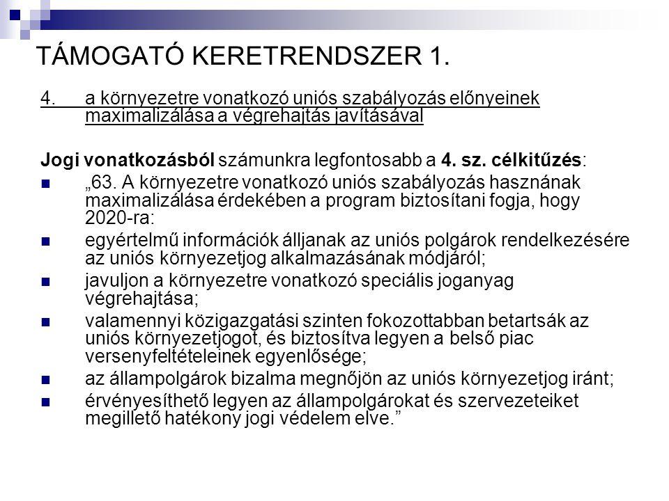 TÁMOGATÓ KERETRENDSZER 1.
