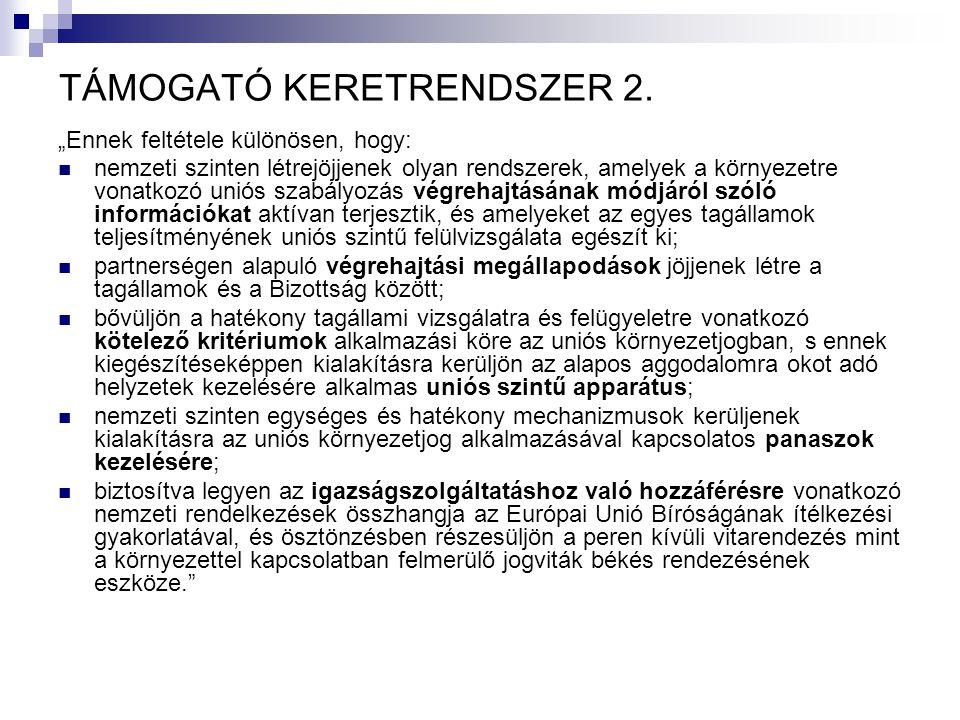 TÁMOGATÓ KERETRENDSZER 2.