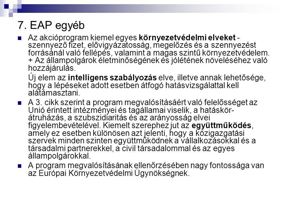 7. EAP egyéb