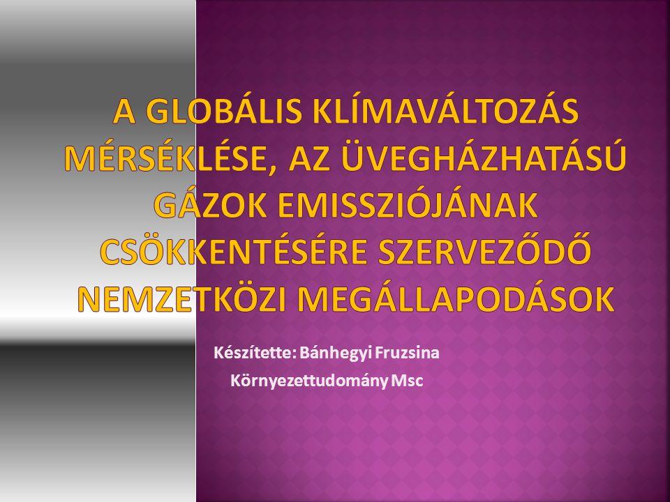 Készítette: Bánhegyi Fruzsina Környezettudomány Msc