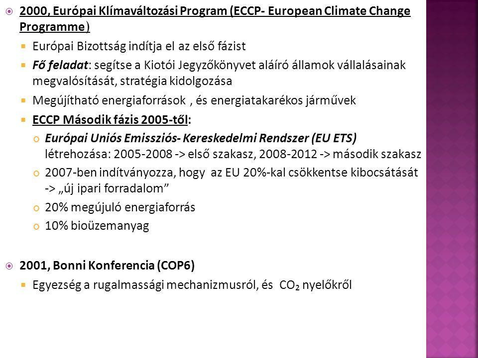 2000, Európai Klímaváltozási Program (ECCP- European Climate Change Programme)