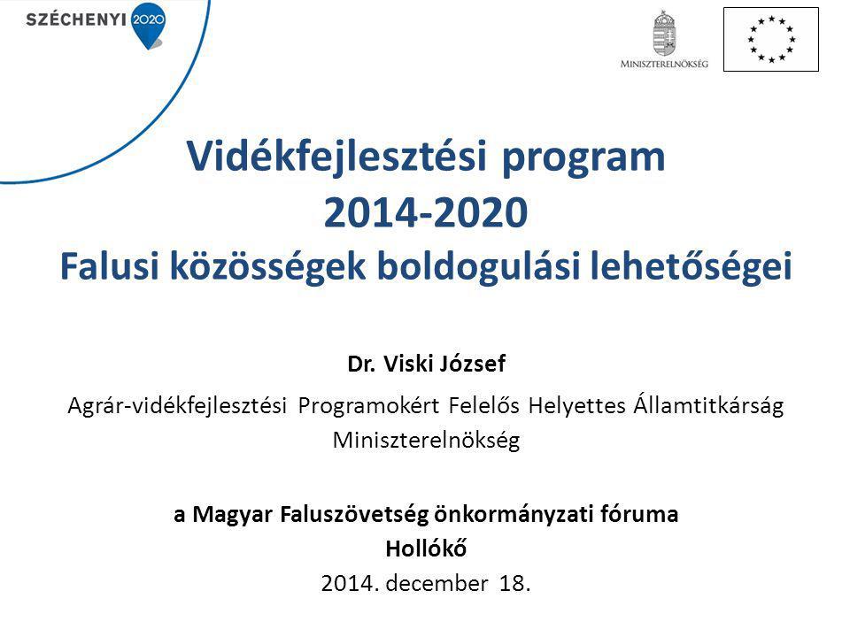 Vidékfejlesztési program 2014-2020 Falusi közösségek boldogulási lehetőségei