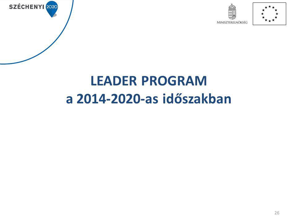 LEADER PROGRAM a 2014-2020-as időszakban
