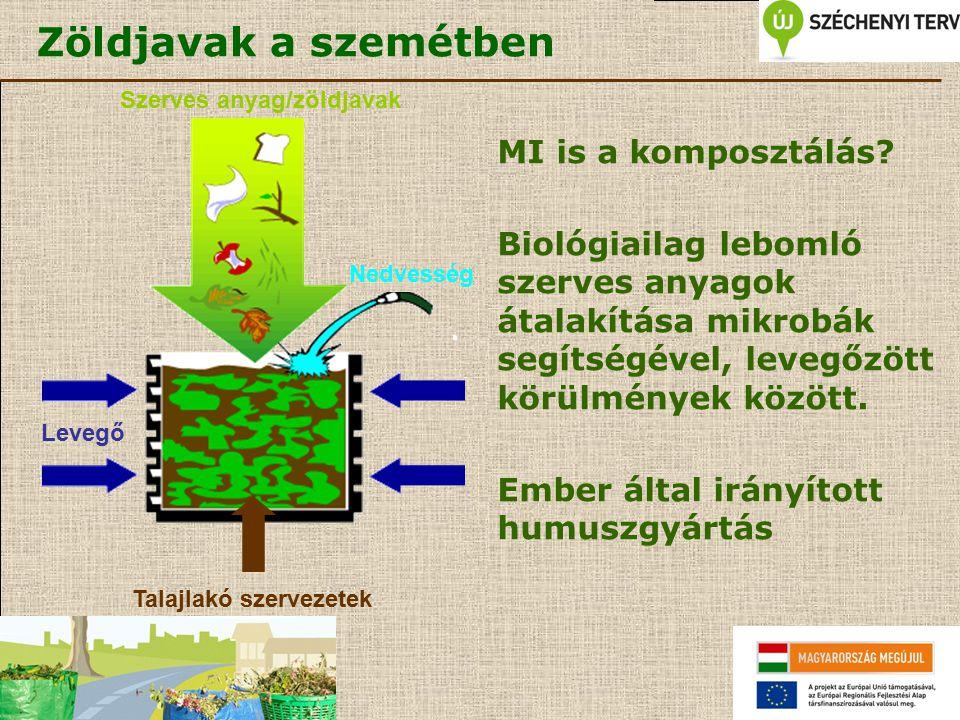 Szerves anyag/zöldjavak Talajlakó szervezetek