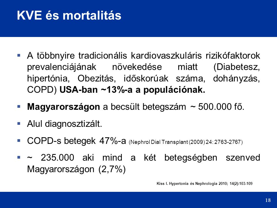 KVE és mortalitás
