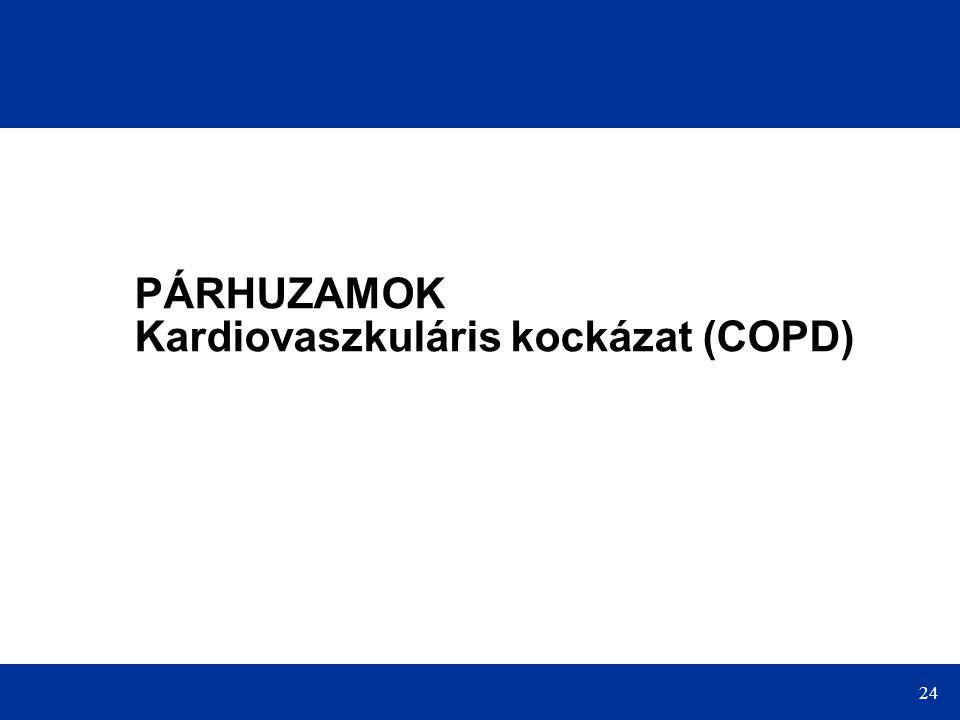 PÁRHUZAMOK Kardiovaszkuláris kockázat (COPD)