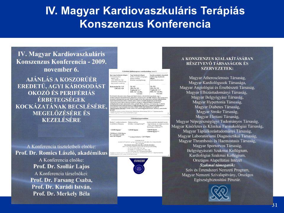 IV. Magyar Kardiovaszkuláris Terápiás Konszenzus Konferencia