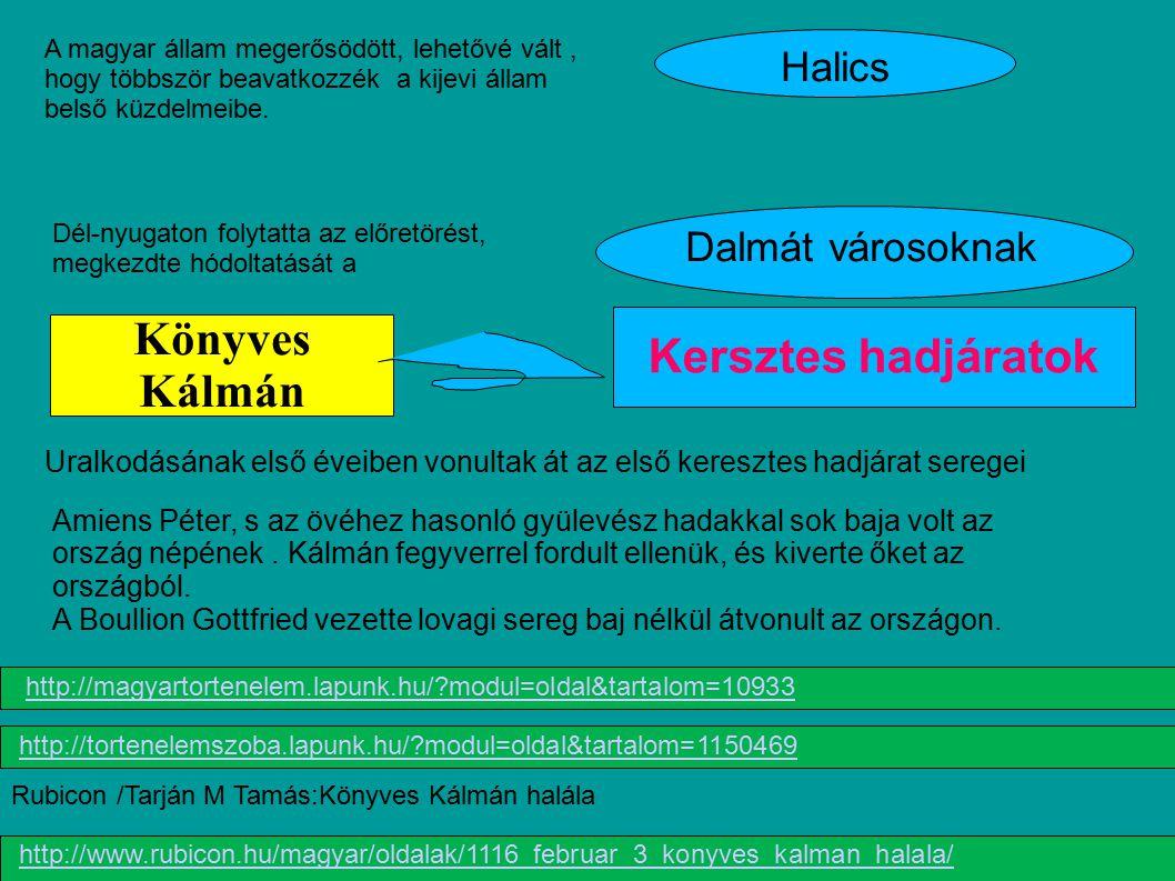 Könyves Kálmán Kersztes hadjáratok Halics Dalmát városoknak