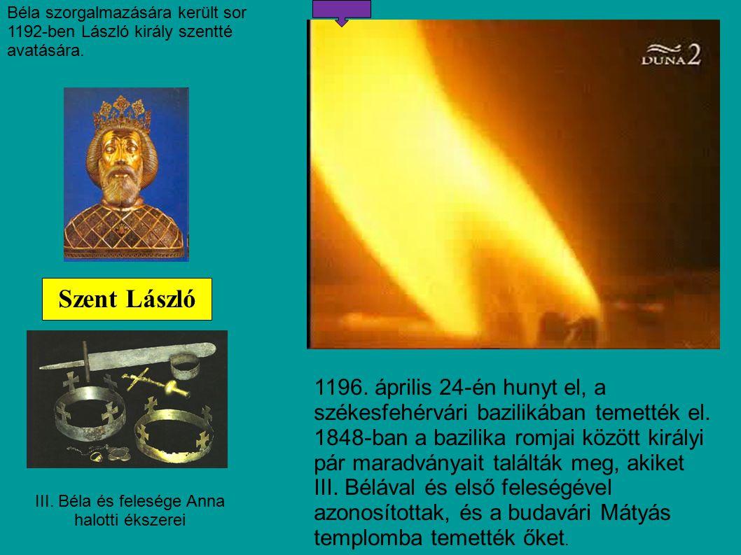 III. Béla és felesége Anna halotti ékszerei