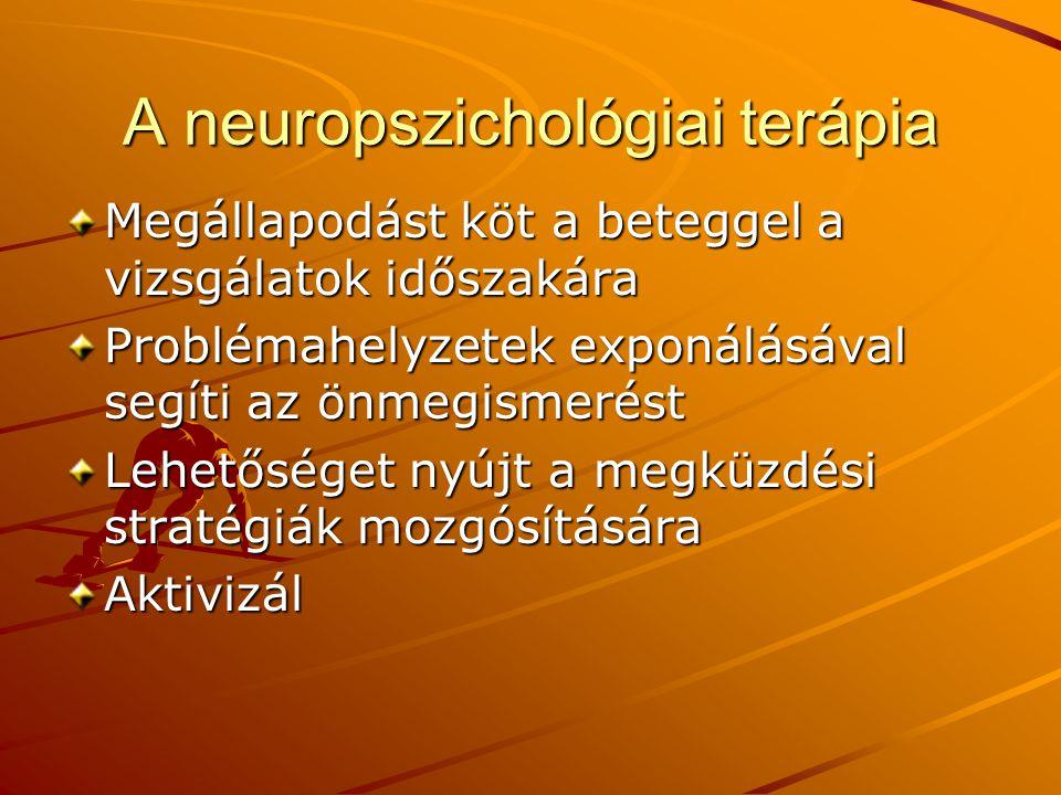 A neuropszichológiai terápia