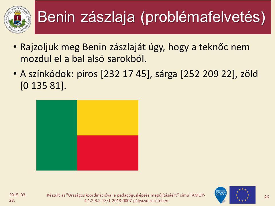 Benin zászlaja (problémafelvetés)