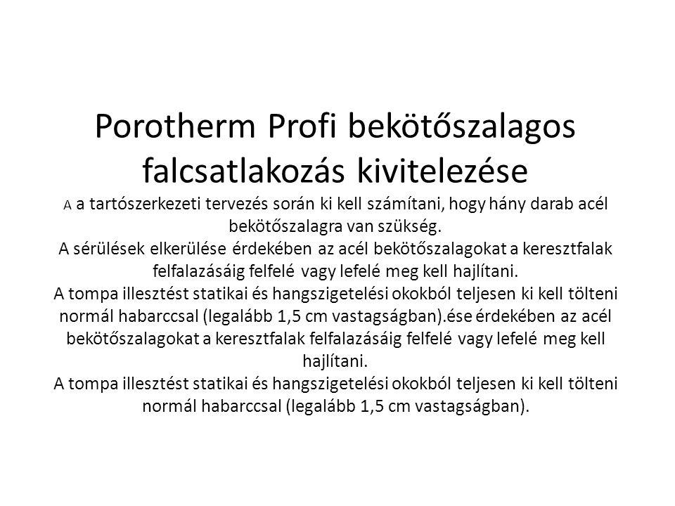 Porotherm Profi bekötőszalagos falcsatlakozás kivitelezése