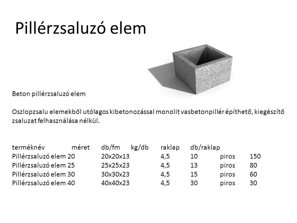 Pillérzsaluzó elem Beton pillérzsaluzó elem