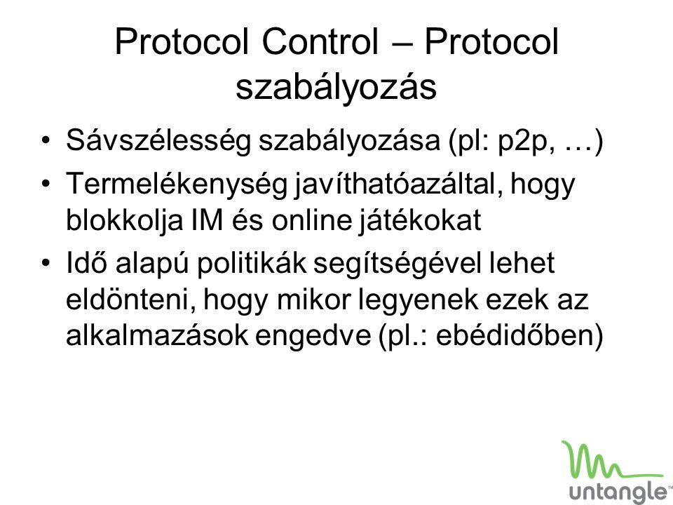 Protocol Control – Protocol szabályozás