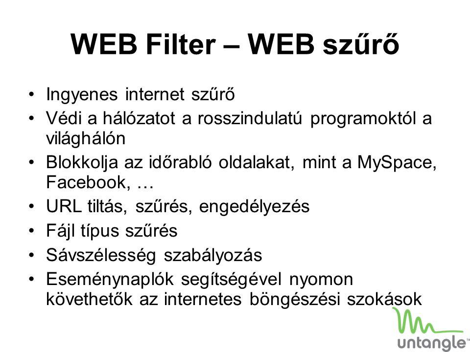 WEB Filter – WEB szűrő Ingyenes internet szűrő