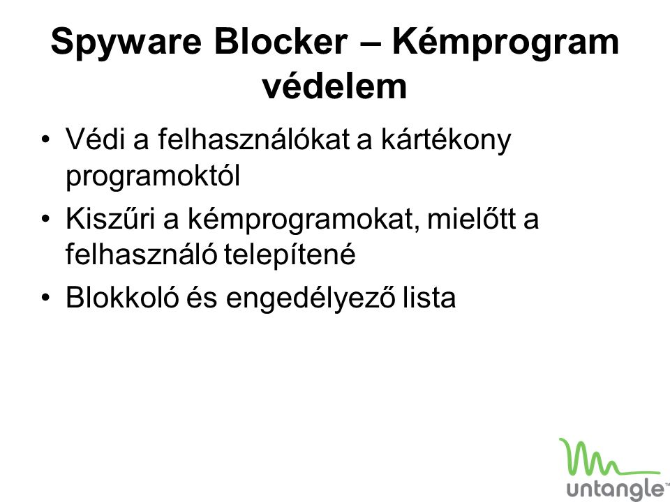 Spyware Blocker – Kémprogram védelem