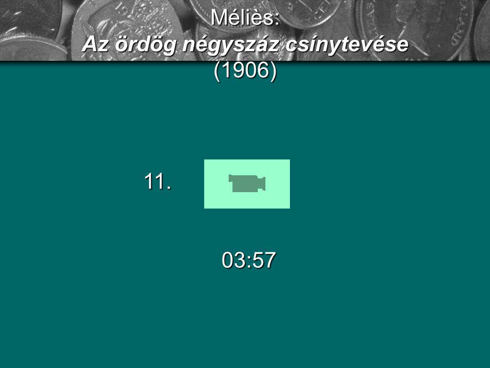 Méliès: Az ördög négyszáz csínytevése (1906)