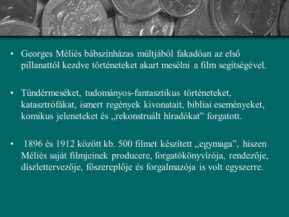 Georges Méliès bábszínházas múltjából fakadóan az első pillanattól kezdve történeteket akart mesélni a film segítségével.