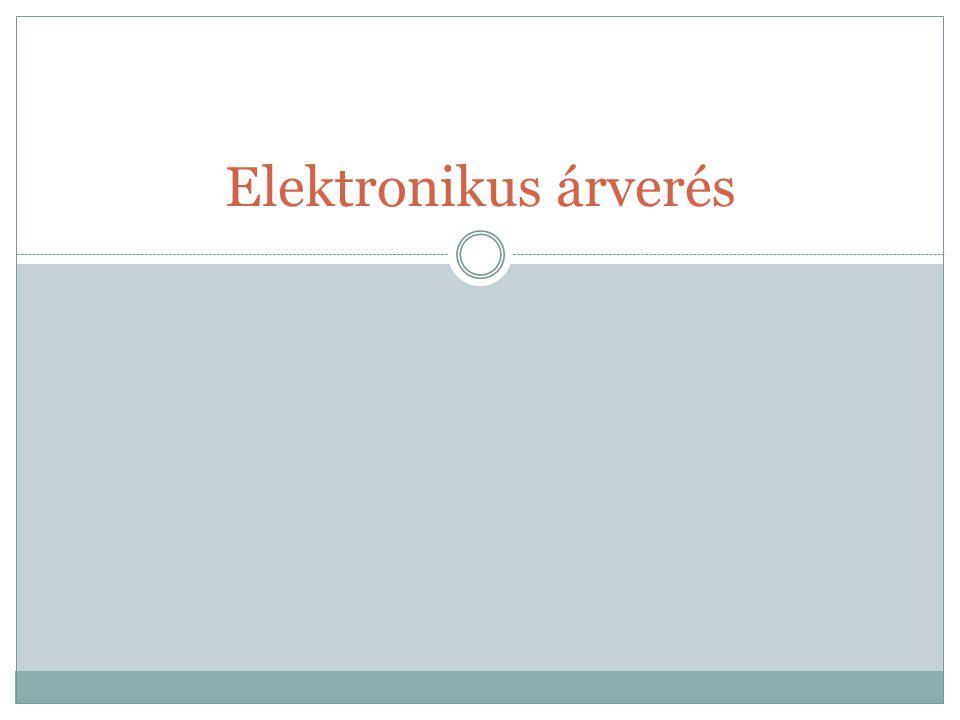 Elektronikus árverés