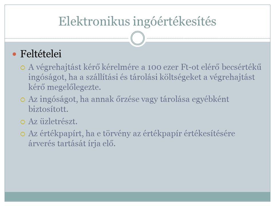 Elektronikus ingóértékesítés