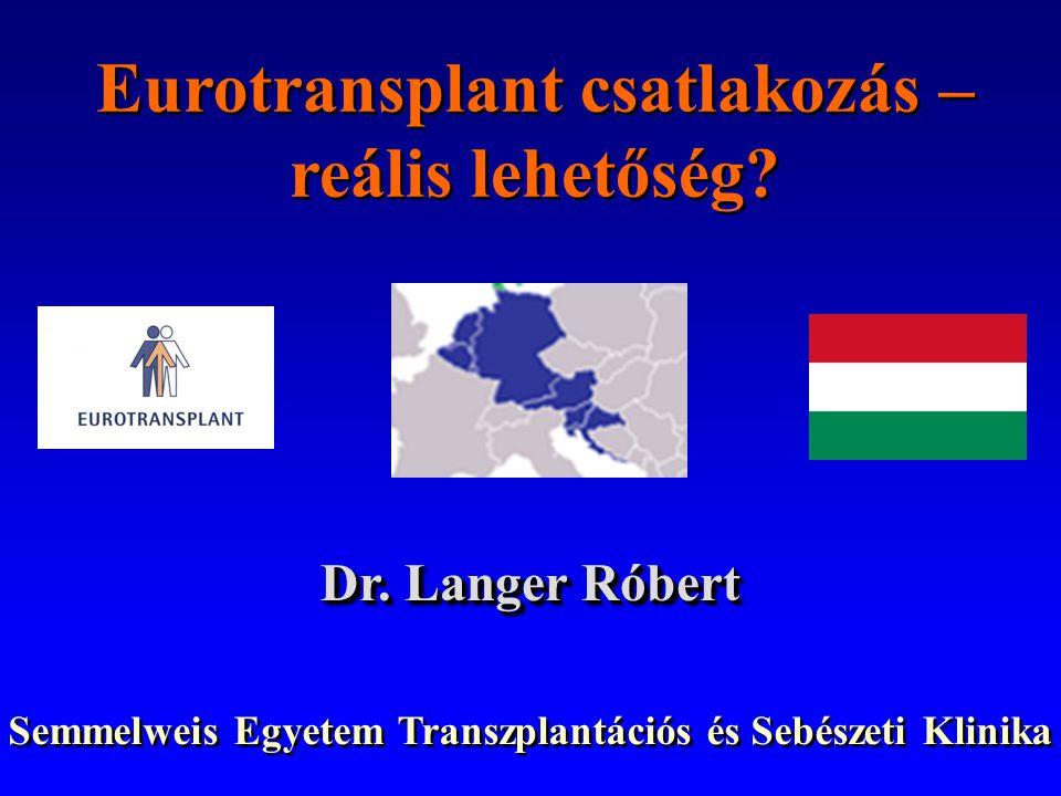 Eurotransplant csatlakozás – reális lehetőség