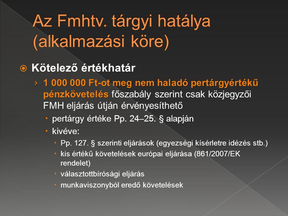 Az Fmhtv. tárgyi hatálya (alkalmazási köre)