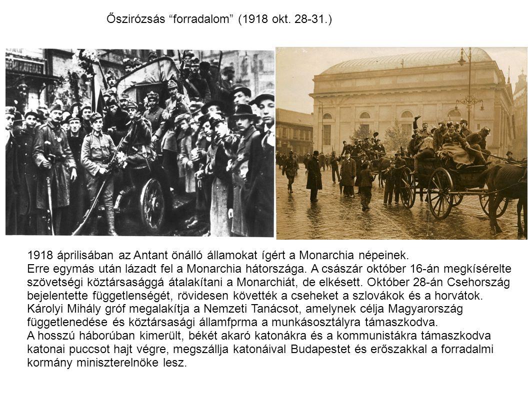 Őszirózsás forradalom (1918 okt. 28-31.)