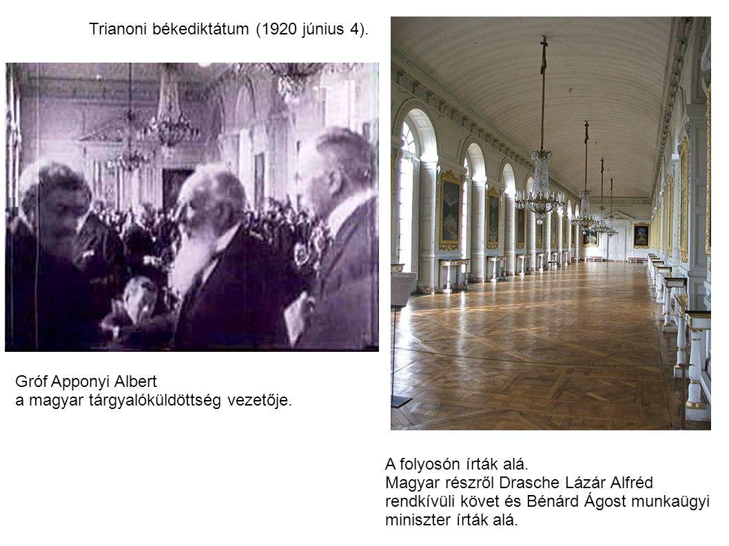 Trianoni békediktátum (1920 június 4).