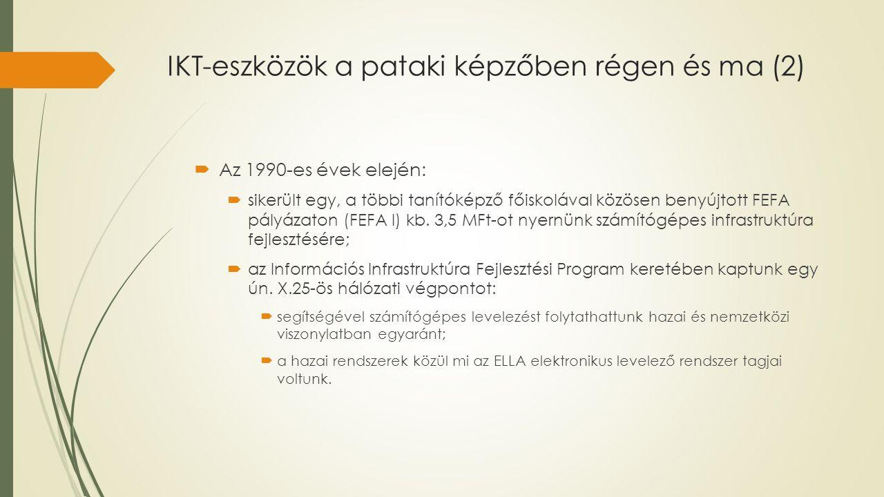 IKT-eszközök a pataki képzőben régen és ma (2)
