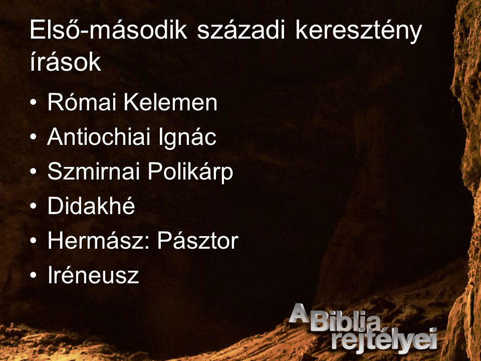 Első-második századi keresztény írások